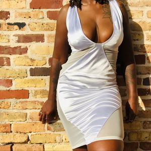 White Fitted Dress PLT